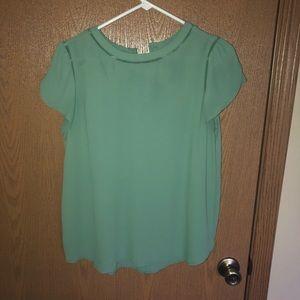 LOFT green tulip sleeve blouse